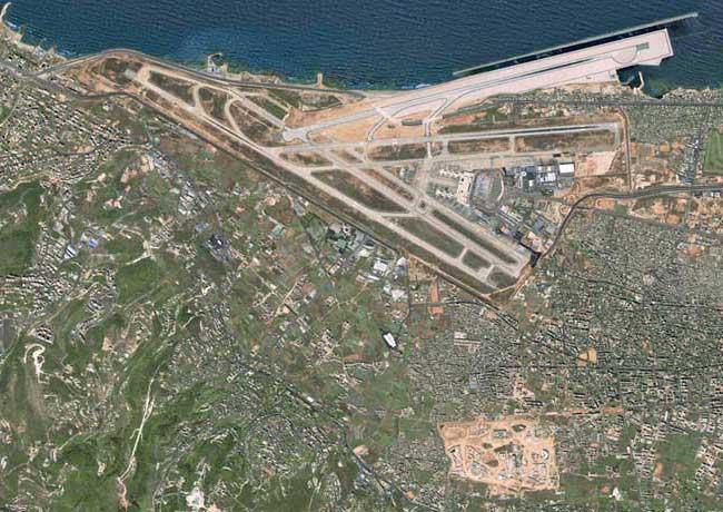 Vue aérienne de l'Aeroport International de Beyrouth (AIB)