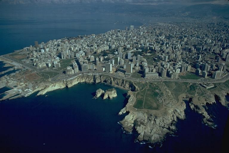 Vue aérienne de Beyrouth