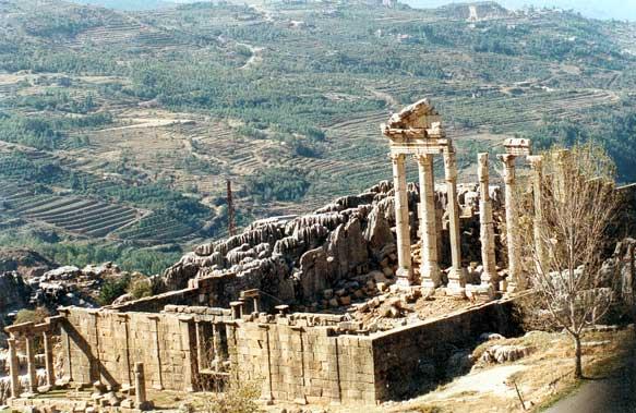 Les ruines romaines de Faqra