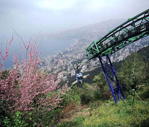 Téléphérique reliant Harissa à Jounieh