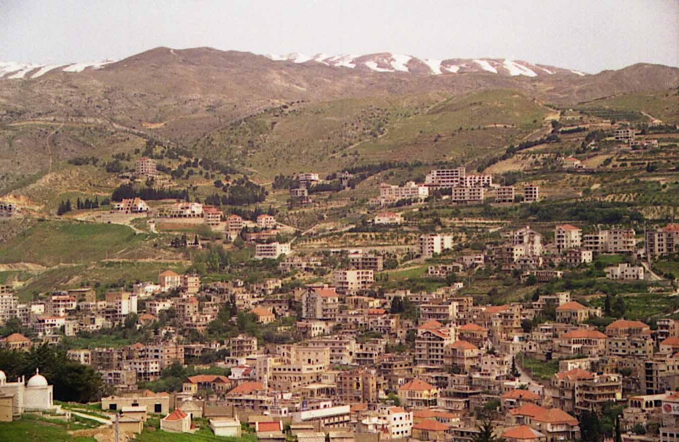 La ville de Zahle dans le Bekaa